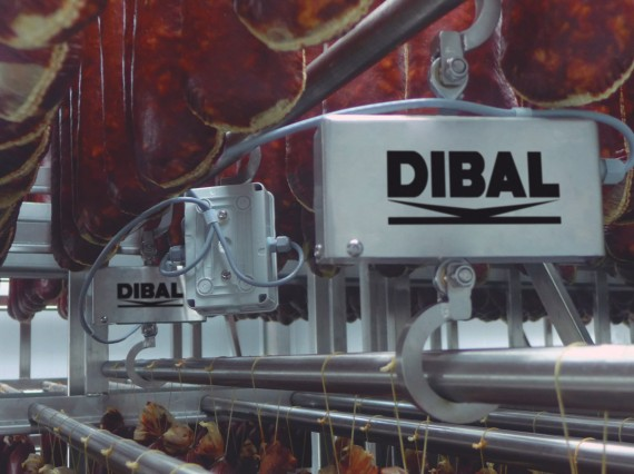DIBAL installation to control sausage curing in drying rooms