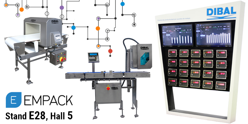 DIBAL will show its weighing, labelling and inspection solutions for the industry in the next edition of EMPACK Madrid