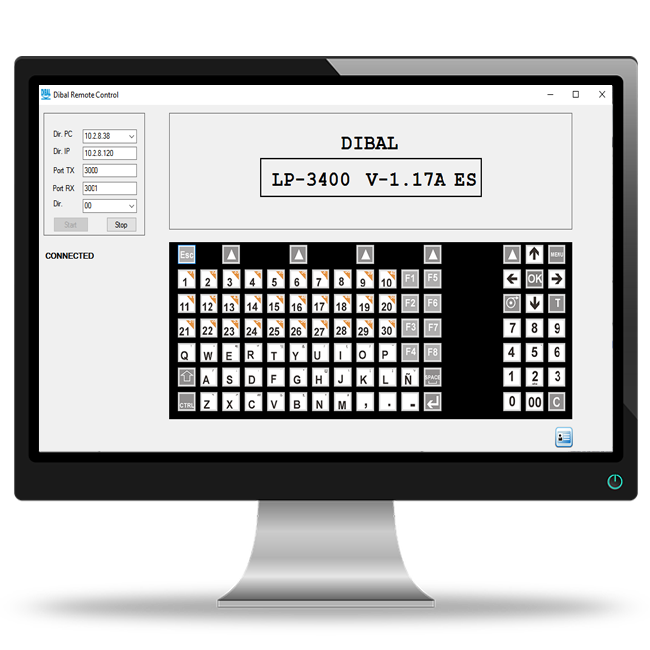 Dibal presents a new remote console application to manage its high range automatic equipment from a PC