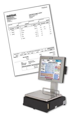 Facturación en las balanzas PC Dibal CS-1000