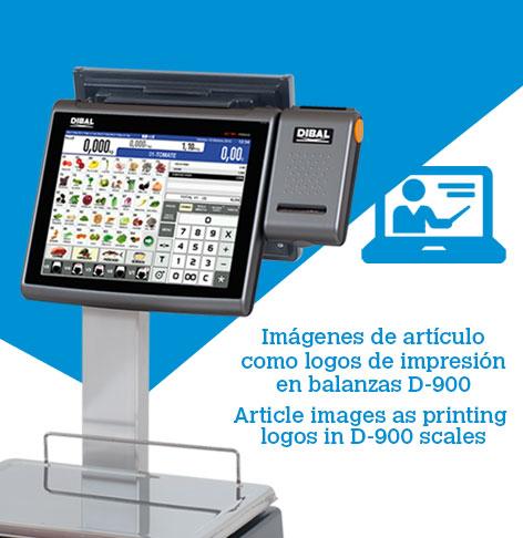 Cómo usar imágenes de artículo como logos de impresión en balanzas Dibal D-900