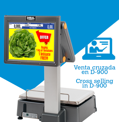 Cross selling with Dibal D-900 scales