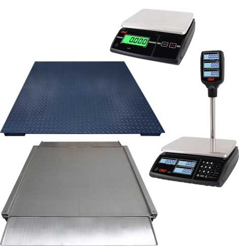 New scales without printer and weighing platforms
