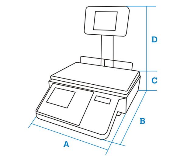 Balanzas para mostrador Cely Serie PI-150