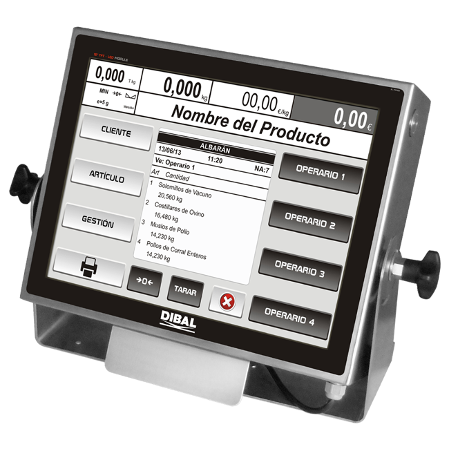 PC based weight indicators Dibal VT-800 Series