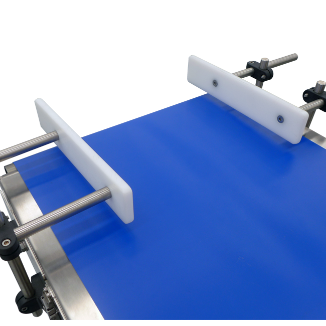 Product guiding system in infeed conveyor (standard)