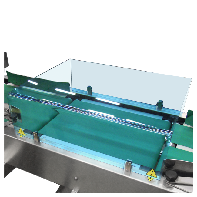 Polycarbonate protector for weighing conveyor