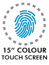 15 colour touch screen