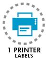 1 printer labels