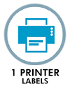 1 printer labels