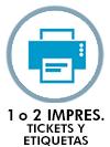 1 o 2 impresoras tickets etiquetas