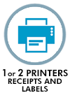 1 or 2 printers receipts or labels