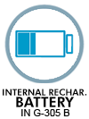 Internal rechargeable battery in G-305 B
