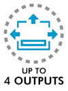 Up to 4 outputs