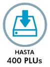 HASTA 400 PLUs