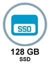 128 GB capacity in memory