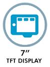 7 TFT display