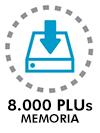 Hasta 8.000 PLUs en memoria