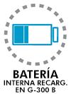 Batería interna recargable en modelo G-300 B
