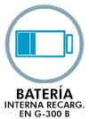 Batería interna recargable en G-300 B