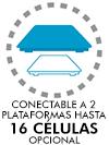 Conectable a 2 plataforma hasta 16 células