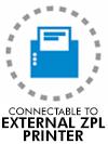 Connectable to external ZPL printer