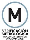 Verificación metrológica (M) incluida