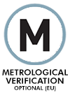 METROLOGICAL VERIFICATION OPTIONAL (NOT INCLUDED)