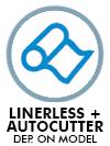 Linerless + Autocutter