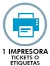 1 impresora de tickets o etiquetas