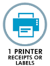 1 receipts or labels printer
