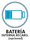 Batería interna recargable opcional