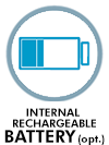 Internal rechargeable battery optional