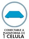 Conectable a plataforma hasta 4 células