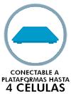 Conectable a plataformas hasta 4 células