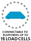 Connectable to platform up to 16 loadcells