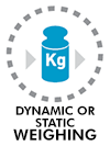 Dynamic or static weighing