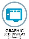 Graphic LCD display optional