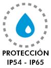 Protección IP54 - IP65
