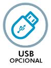 USB opcional
