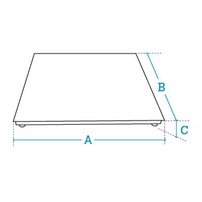 4 load cells top-of-floor or pit weighing platforms Dibal 4EH Series
