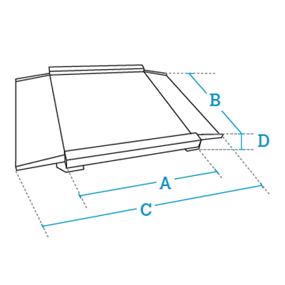 4 load cells low profile weighing platforms Dibal 4PBPH Series