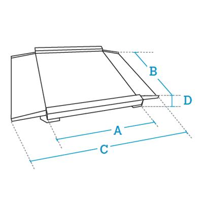 Plataformas de pesaje 4 células bajo perfil Dibal Serie 4PBPH