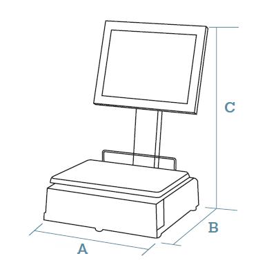 Self-service PC scales CS-2200 Series