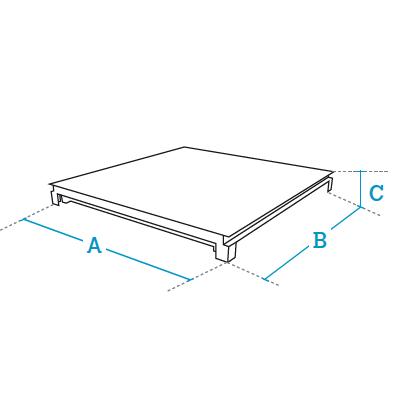 Hybrid pit weighing platforms Dibal HE series