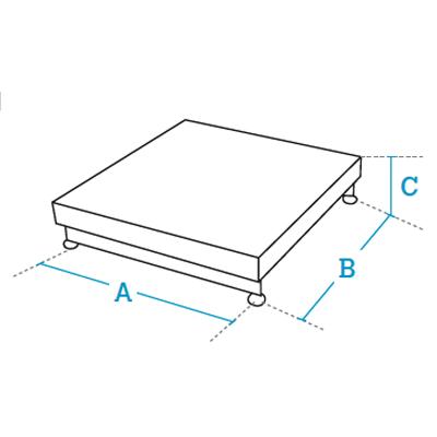 Single load cell weighing platforms Dibal ME Series