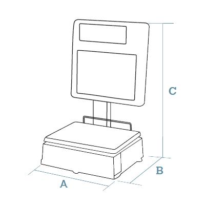 Self-service scales Dibal MISTRAL Series (500 Range)