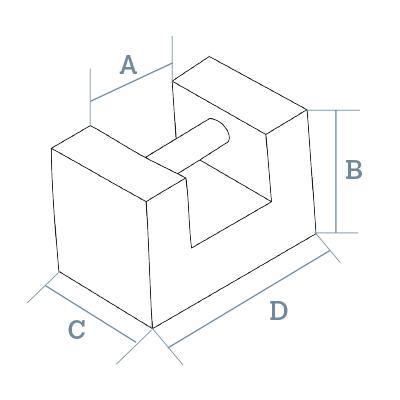 Rectangular M1 - M2 test weights