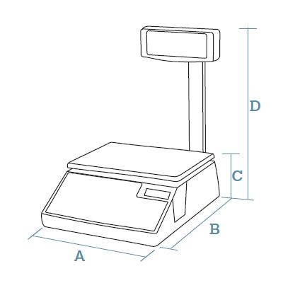 Counter scales Dibal WIND Series (500 Range)