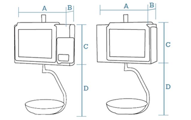 Balanza PC colgante con pantalla táctil e impresora de etiquetas Dibal CS-2100 C 15+7